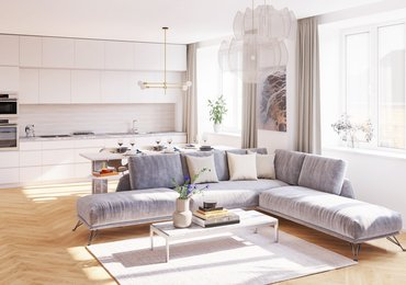 Flat for sale 1+kk with terrace, 24,1 m², st. Londýnská 56