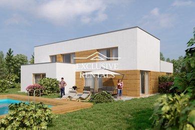 Prodej nízkoenergetického domu 5+kk, 172m² Unhošť - Nouzov