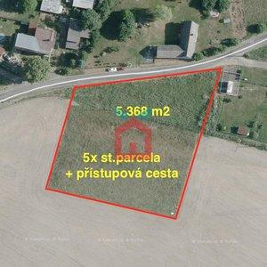 Prodej, Pozemky pro bydlení se stavebním povolením, 5x st. pozemek, celkem 5.368m² - Dolní Krupá