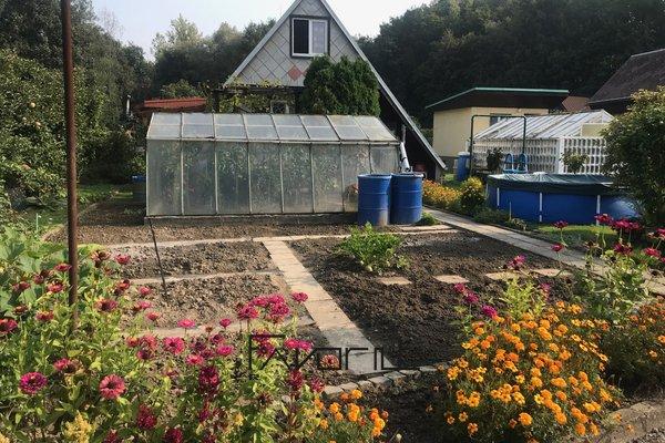 Plně vybavený zahradní domek se zahradou v zahradní kolonii v Osadě u Korýtka, Ostrava - Zábřeh