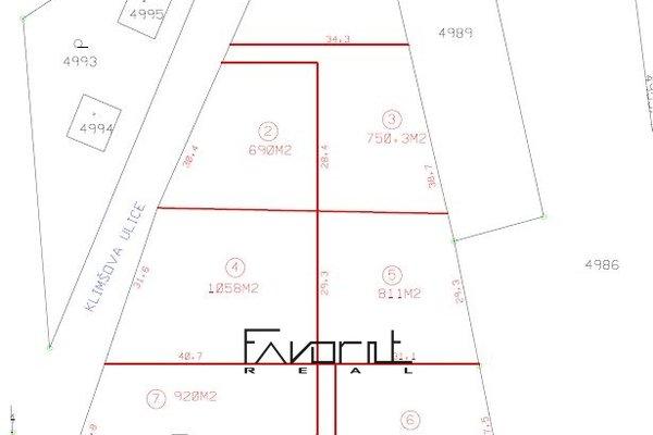 Prodej pozemku o velikosti 811m2, k výstavbě RD, Petřvald okr.Karviná, ul.Klimšova