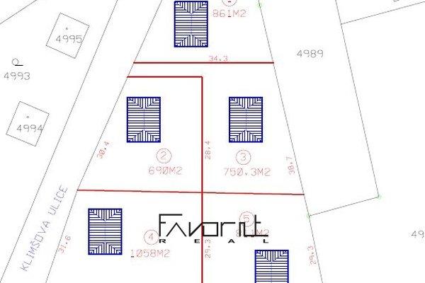 Prodej pozemku o velikosti 871m2 k výstavbě RD, Petřvald okr.Karviná, ul.Klimšova