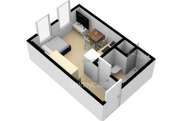Pronájem, Byt 1+kk, 17 m² - Praha 5