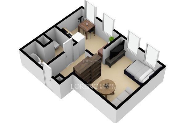 Pronájem, Byt 2+kk, 31 m² - Praha 5