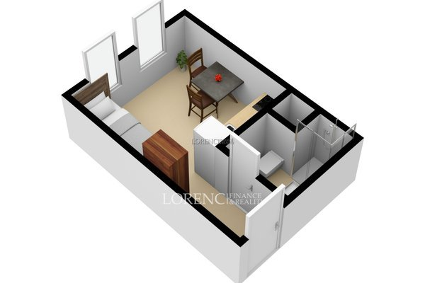 Pronájem, byt 1+kk, 16 m² -  Praha 5