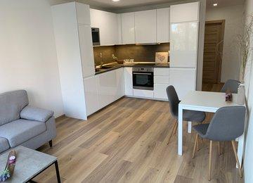 Pronájem částečně zařízeného zrekonstruovaného bytu 3+kk, 57,21 m2, ul. Srbská, Ostrava - Výškovice