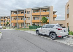 Pronájem novostavby bytu 1+kk, 32 m2, balkón, parkovací stání, ul. Nové Dvory - Podhůří, Frýdek-Místek, Rezidence Na Podhůří