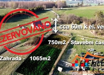 Prodej stavebního pozemku 1815m² v Jarcové - okr. Vsetín