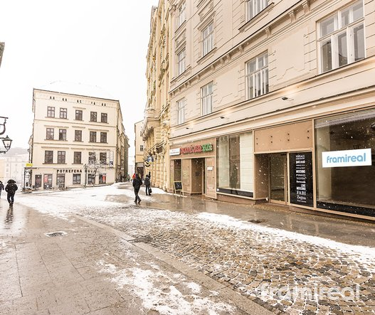 Pronájem obchodních prostor, 156m² - Brno-ul. Starobrněnská