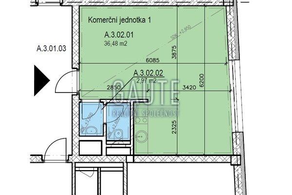 Prodej, Kanceláře, 36m²