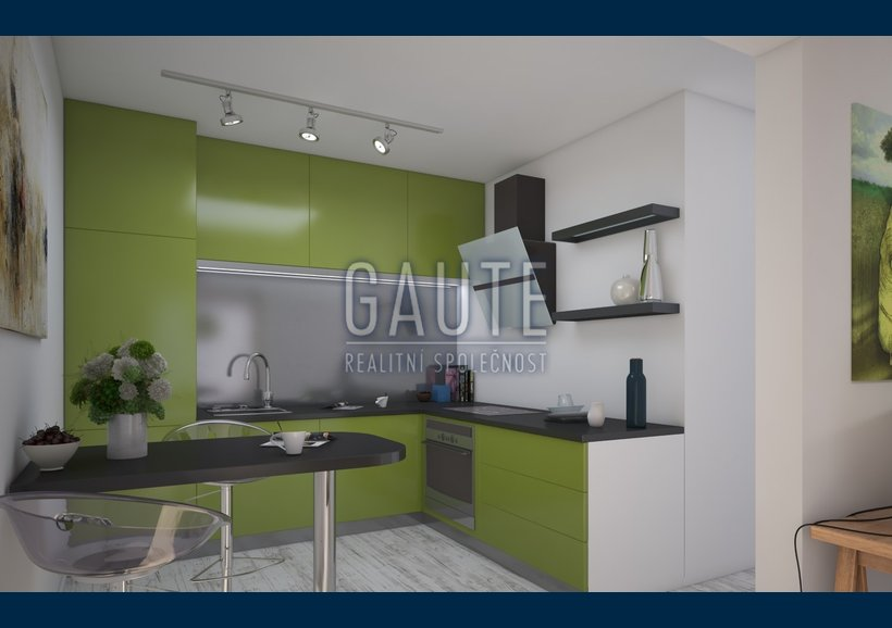 byt - varianta A - pohled na kuchyň