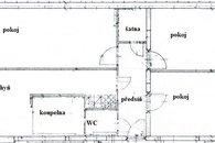 orientační plánek bytu Modřice