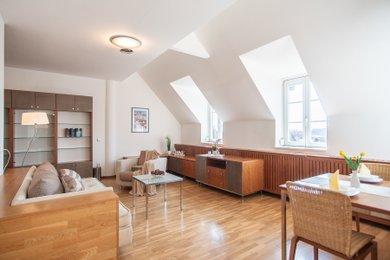 Mezonetový byt (112 m2) se dvěma terasami a dvěma garážovými místy, Areál Hvězda, Praha 6 - Petřiny, Ev.č.: 202223