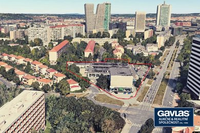 Praha 4, stanice metra Olbrachtova, areál 10.000 m2 s halou a adm. budovou, Ev.č.: 60285