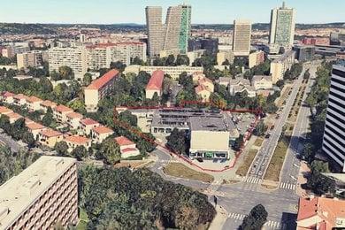 Praha 4, stanice metra Olbrachtova, areál 10.000 m2 s halou a adm. budovou, Ev.č.: 60285-1