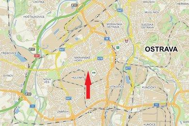 Komerční pozemek 14.131 m2 u křižovatky ul. Železárenská a 1. máje, Ostrava., Ev.č.: 100685