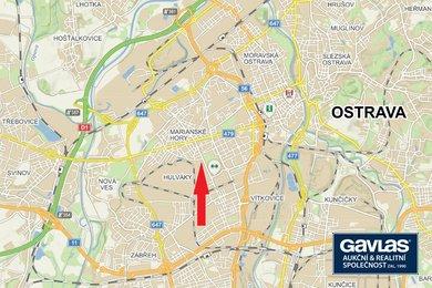 Komerční pozemek 14.131 m2 u křižovatky ul. Železárenská a 1. máje, Ostrava, Ev.č.: 100685