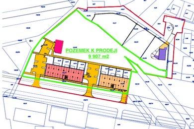 Pozemek 9.907 m2 s územním rozhodnutím pro výstavbu bytových domů, Olomouc - Neředín, ul. Okružní., Ev.č.: 111682