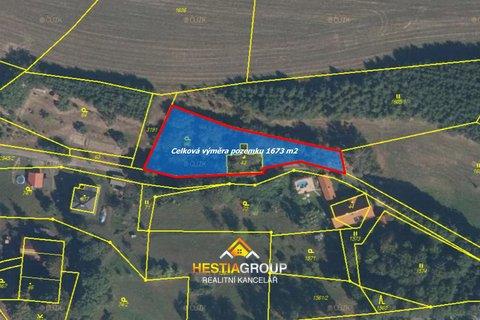 Pozemky pro bydlení, 1673m², Nekoř