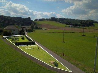 Prodej stavebního pozemku 645 m2, Dlouhoňovice u Žamberka