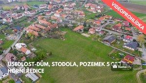 Prodej pozemku s domem a stodolou, 5 083 m² - Horní Ředice