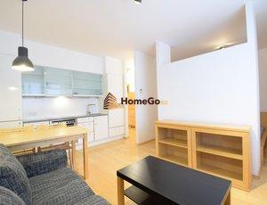 Dlouhodobý pronájem nového otevřeného bytu 2+kk v novostavbě, Vysočany, metro Vysočanská, areál Rubeška, Nepilova a Paříkova ulice