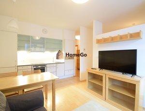 Dlouhodobý pronájem designového otevřeného bytu 2+kk v novostavbě, Vysočany, metro Vysočanská, areál Rubeška, Nepilova a Paříkova ulice