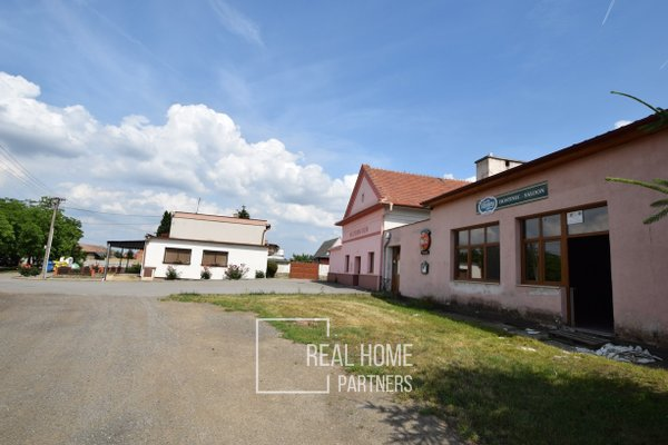 Prodej, komerční objekt, sklad, CP 470 m² + byt 2+kk Loděnice, Brno - venkov