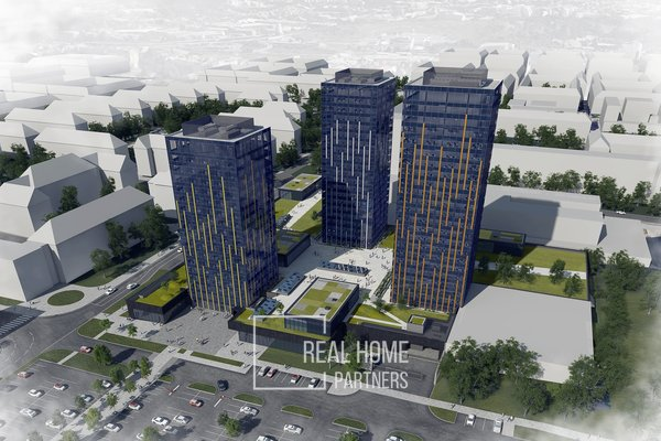"""Pronájem, kanceláře, 480 - 500m², Brno - Veveří, poslední volná tři patra v budově """"B"""""""