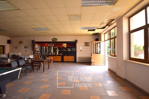 Prodej, komerční objekt, byt 2+kk, restaurace, CP 470m²,  Loděnice, Brno - venkov