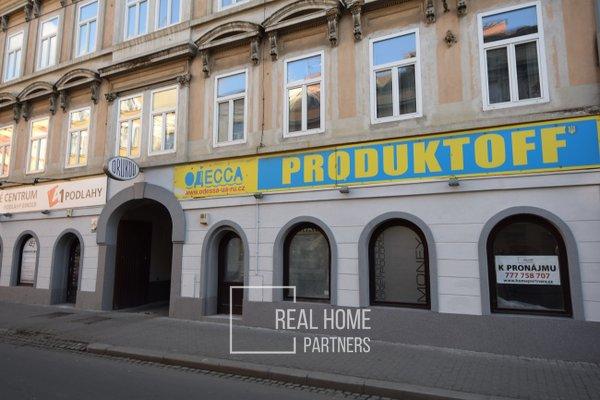Pronájem obchodních prostor, CP 77 m2, Brno-střed, ul. Cejl