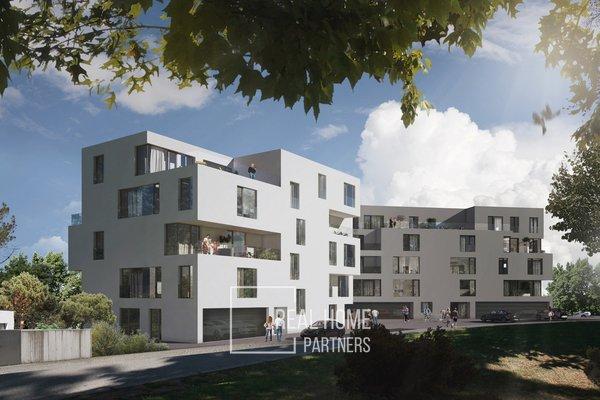 Prodej novostavba 4+kk 105 m2 plus terasa 220 m2, 2x garážové stání, Vinařská, Brno - Stránice