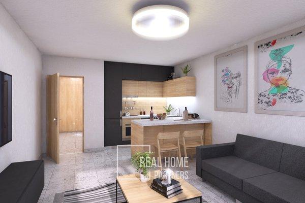 Prodej novostavby 1+kk s terasou  o celkové výměře bytu 52,6 m2