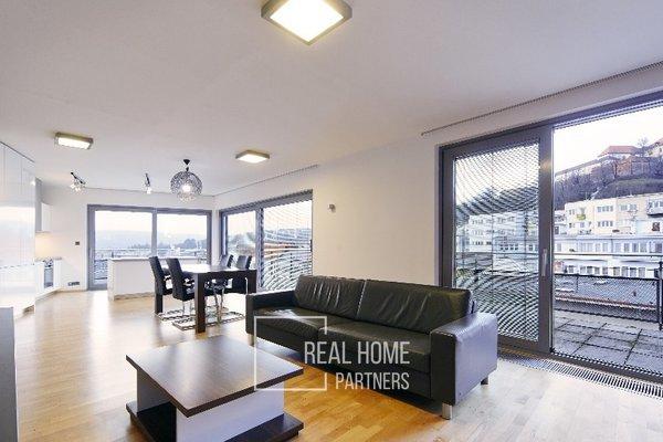 Pronájem, Byt 2+kk, terasa, klimatizace, 83 m², Brno - centr, ul. Kopečná