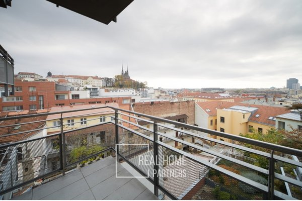 Pronájem, Byt 2kk, klimatizace, terasa, CP 95 m² Brno - střed