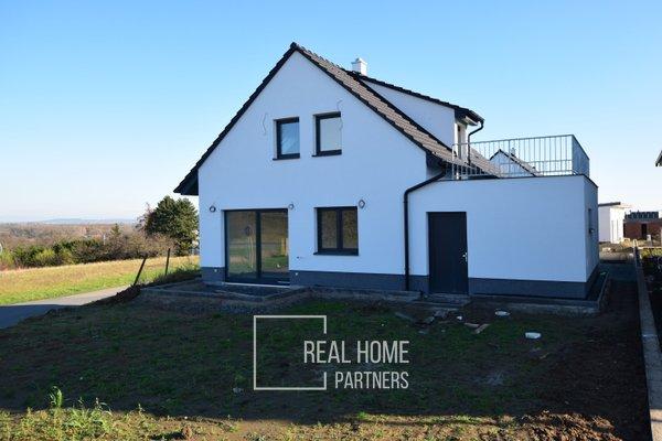 Prodej novostavby RD 5+kk s garáží a terasou, CP 399 m², Rajhrad, Brno – venkov