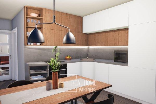 Prodej cihlový byt 2+KK novostavba 44 m2, OV, s terasou 5,9 m2, Brno - Řečkovice, Mokrá Hora