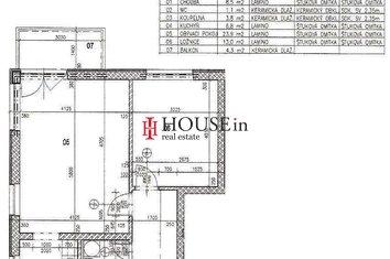 byt 6F Plánek Horoměřice