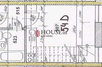 54D Plánek přízemí bytu