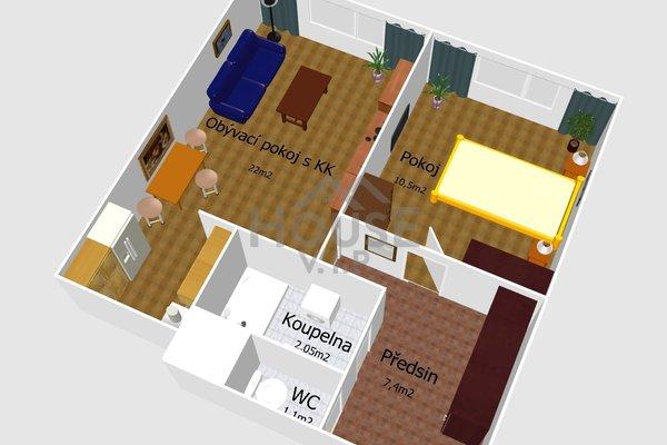 Prodej, Byty 2+kk, 43m² - Praha - Stodůlky