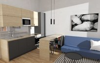 Prodej bytu 1+kk, 28,35 m2 v blízkosti centra, po rekonstrukci