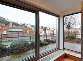 Pronájem, Byty 3+kk, Mezonet, 126,4 m² + 82,2 m2 terasa + 7,6 m2 balkon