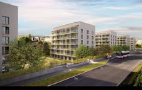 Prodej bytu v novostavbě s balkonem 12,4m2 ,vel. 3+kk, vel. 67m²  Praha - Žižkov, ul. Novovysočanská