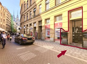 Pronájem obchodních prostor v pěší zóně 21,1m²