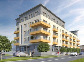 Prodej, Byty 1+kk, 29,2 m2 s balkonem 2,4 m2, Brno - Židenice