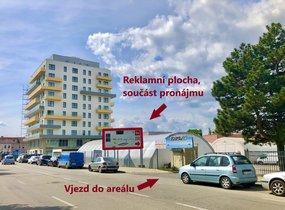 Pronájem obchodních prostor s komfortním parkováním a billboardem (cca 67 m²)