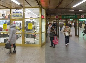 Obchod - metro Želivského, 13 m2