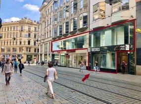 Pronájem obchodních prostor v pěší zóně (cca 482,85 m²)