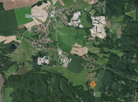 Prodej stavebních pozemků 28.536m2 Kozárovice, okres Příbram