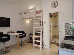 Pronájem krásného bytu po rekonstrukci 1+kk/B, 22m2, zařízené, Praha 3 Žižkov